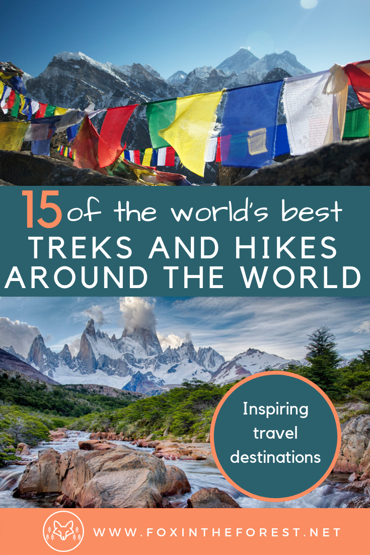 The best hikes in the world. Most beautiful treks in the world. Guide to trekking destinations around the world. The world's best hikes. #hiking #trekking #outdoors #travel