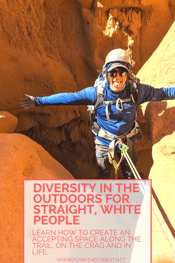 It's time to recognize and celebrate the outdoors as a diverse space. Sometimes, that can be scary to do, especially when we feel uncomfortable. This post is aimed to encourage everyone to celebrate their diverse identities and be an ally for marginalized groups in the outdoor space. Learn how to be respectful and be part of the conversation. #outdoors #outdoorwomen #diversity