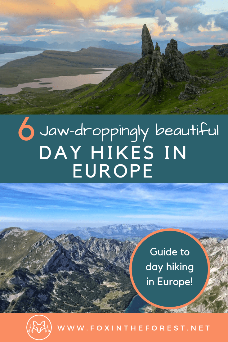 A list of the best day hikes in Europe. Experience the natural beauty of Europe with these walks for all skill levels. Beautiful hiking in Europe. #Europe #hiking #travel #walks #trekking