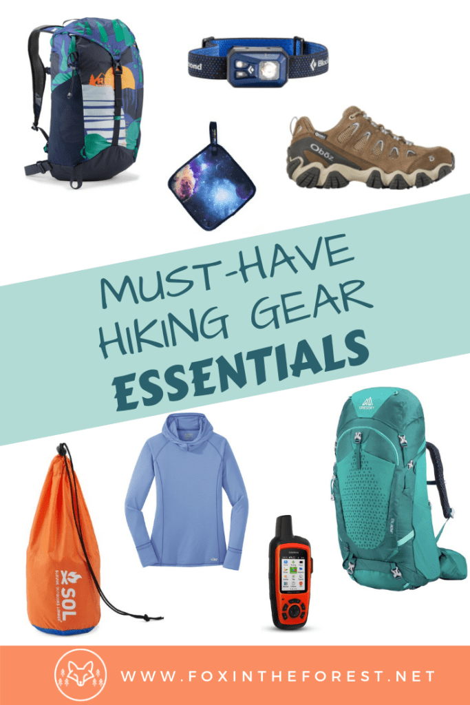 The best hiking gear. Must-have women's hiking gear. A hiking gear list for women. A hiking gear list including gadgets, clothes, essential hiking gear and more. Hiking gear for beginners. #hiking #outdoors #travel