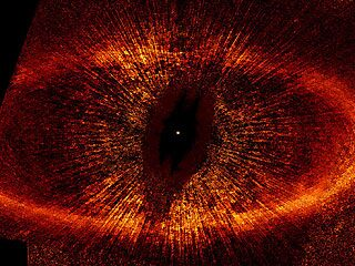 The full Eye-of-Sauron-like 2006 image of the dust disk surrounding Fomalhaut.