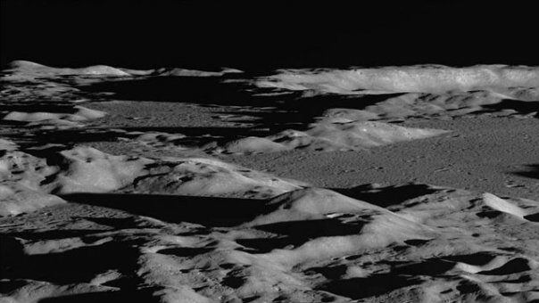 NASA/GSFC/ASU  By looking across the landscape rather than straight down, photos from the Lunar Reconnaissance Orbiter emphasize topography and lighting, giving a dramatic view of the lunar terrain.