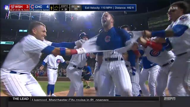 Cubs win with walk-off slam!