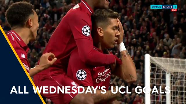 All Wednesday's UCL goals