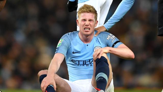 De Bruyne done for six weeks