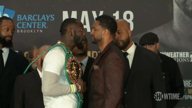 Wilder and Breazeale face each other