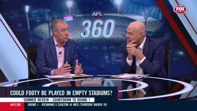 Empty stages for AFL games?
