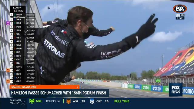 Hamilton wins the Spanish GP
