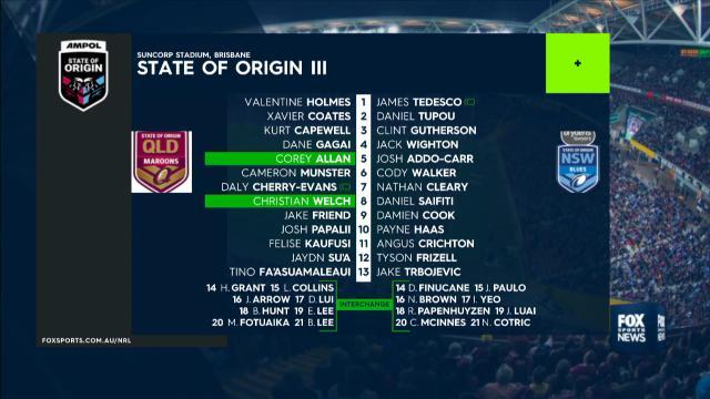 State of Origin 2020: NSW Blues vs QLD Maroons, Game III ...