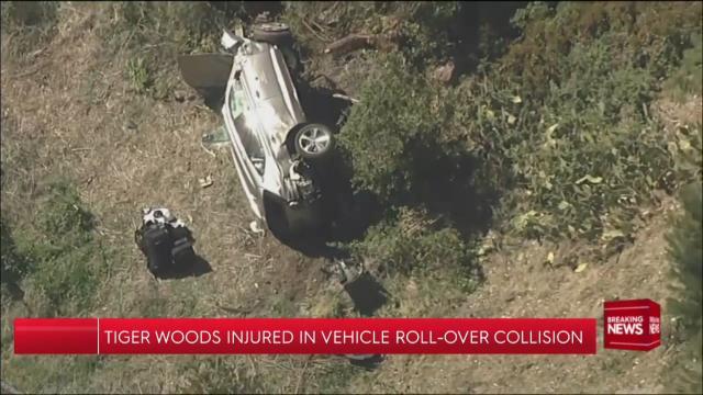 Tiger Woods in serious car crash