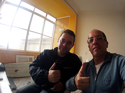 David Cardoso (à direita) realiza curso de produção de eBooks com Jean Pluvinage, diretor da FoxTablet