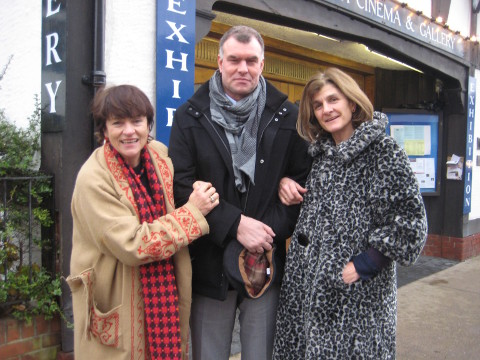 Actress Diana Quick with Russian filmmaker Sergei Miroshnichencko and director Margy Kinmonth