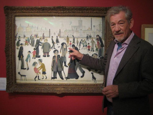 Ian McKellen and The Cripples by Lowry