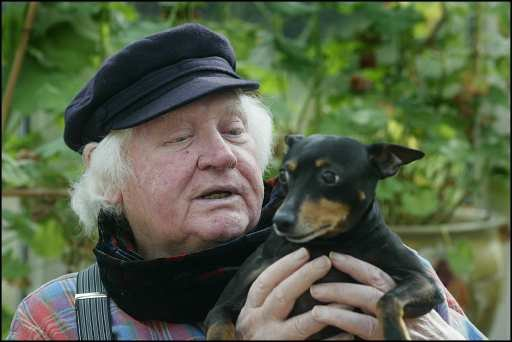 Ken Russell and his dog Nipper