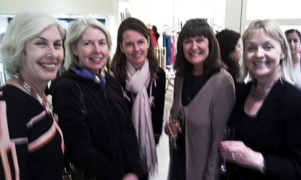 L-R Louise Chunn, Maureen Murray, Lucy Beresford, Lyn Burgess, Kate Kinninmont (Director of WFTV UK)