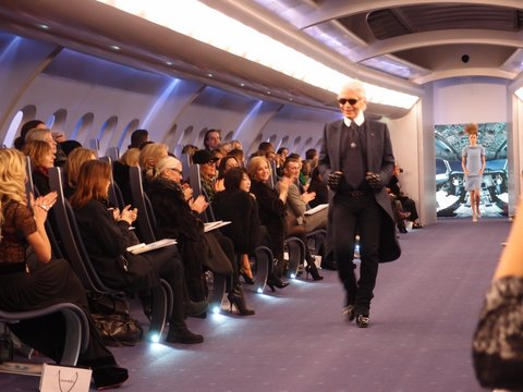 Karl Lagerfeld's 747 Haute Couture Show in Paris