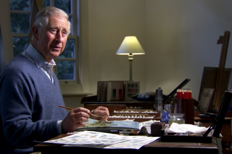 HRH The Prince of Wales during the filming of Royal Paintbox-crop