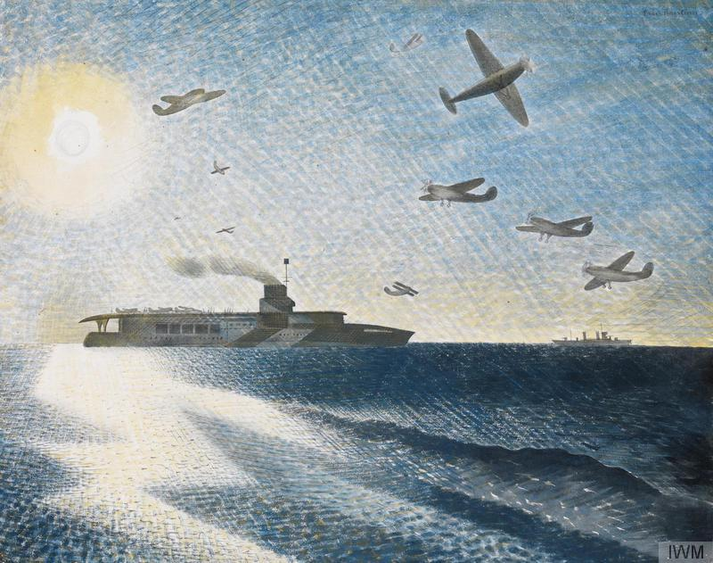 HMS Glorious in the Arctic, c1940, by Eric Ravilious: 'a marvel of graphic notation'. Photograph: © IWM (Art.IWM ART LD 283)