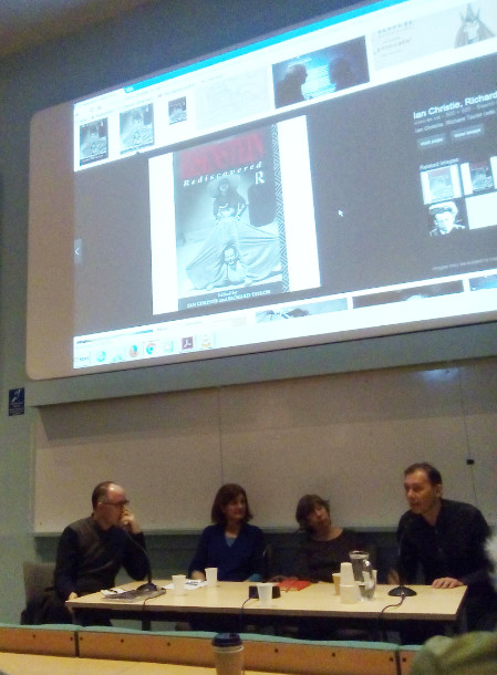 L-R: Antonio Somiani, Margy Kinmonth, Laura Mulvey, Igor Kadyrov