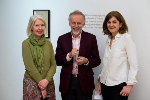 "L-R: Maureen Murray, Ian Christie & Margy Kinmonth attended the Special one-night-only Private View of PACE Gallery's ""Sergei Eisenstein - Love, Lust and Laughter""."