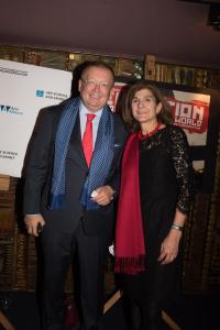 Margy Kinmonth and Russian Ambassador to the UK Alexander Vladimirovich Yakovenko. Party at the Royal Academy.