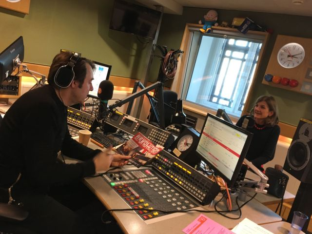 Jonathan Ross and Margy Kinmonth - In the studio