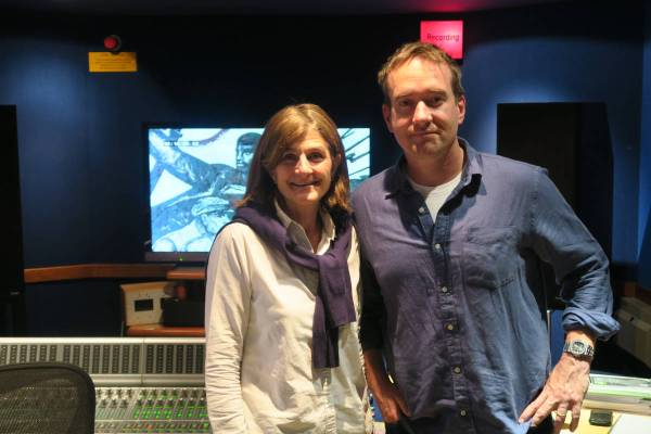 REVOLUTION Margy Kinmonth and Matthew Macfadyen Voice of Lenin in the recording studio. Photograph © www.foxtrotfilms.com