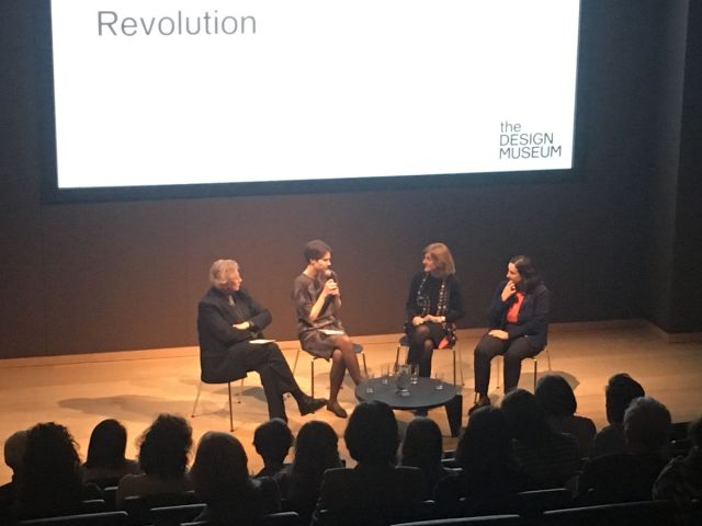 Sir Christopher Frayling, Eszter Steierhoffer, Margy Kinmonth and Dr. Natalia Murray at Design Museum, London.