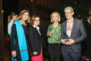 Margy, Zelfira Tregulova, Victoria Broackes and Geoffrey Marsh of V & A Museum