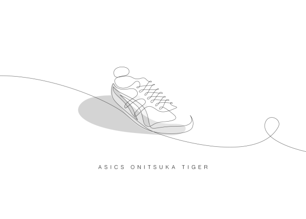 Single Line Text Art : Famous sneakers illustrated with a single line foynd