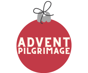 """Image of an ornament with the words """"Advent Pilgrimage"""""""