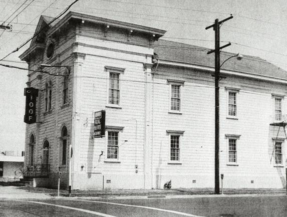 Black and White image of Odd Fellows Hall