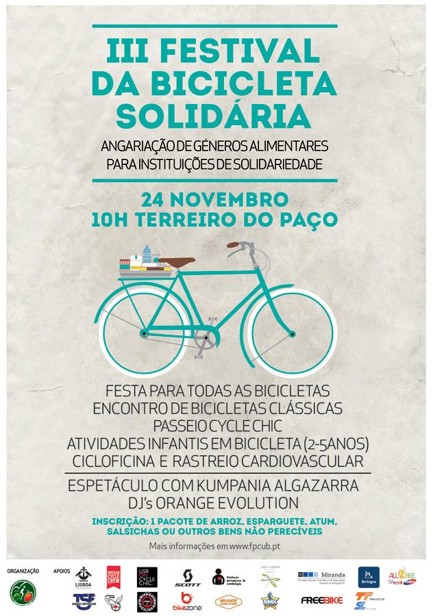 Cartaz III Festival da Bicicleta Solidária