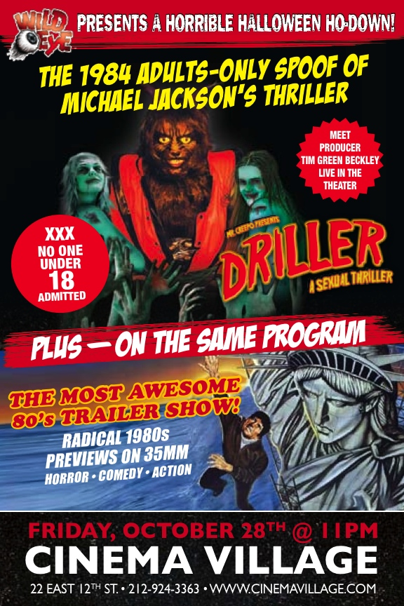 REMINDER: Tonight DRILLER tomorrow the SPECTACLE SHRIEK SHOW
