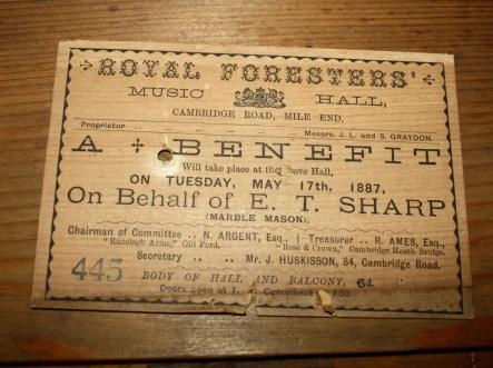 20. Pianoforte Reogh 1890, iscrizione presente nel pianoforte