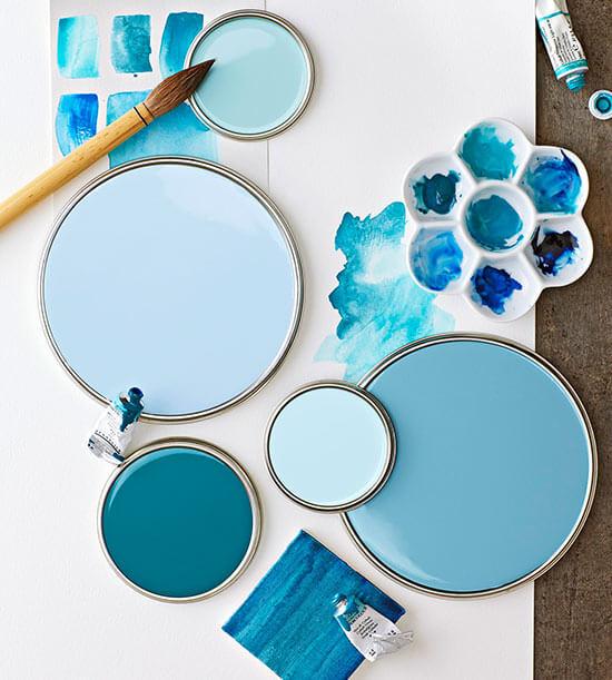 Colorificio fracasso pittura vernice azzurra