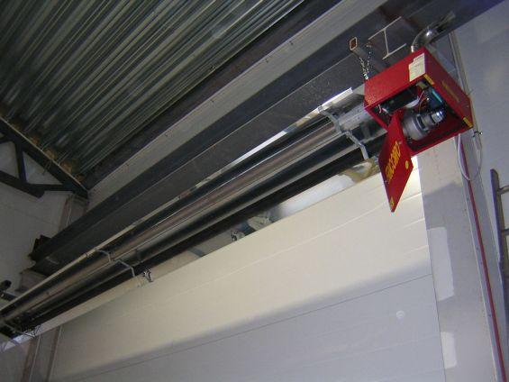 Riscaldamento industriale con tubo radiante panrad Fraccaro
