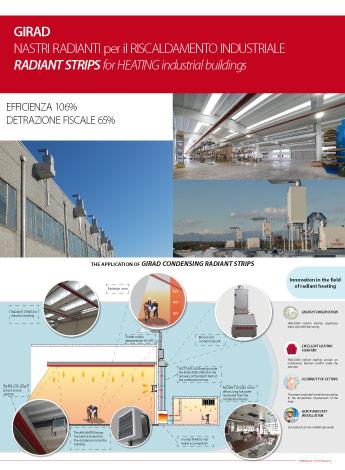 nastri radianti a condensazione per il riscaldamento industriale