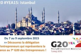 35 chefs d'entreprise français feront la promotion de la culture entrepreneuriale au G20 des jeunes entrepreneurs à Istanbul du 7 au 9 septembre