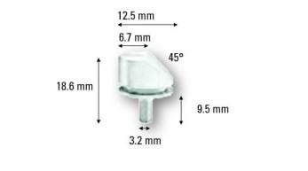 Aluminum Standard Specimen Mounts 45°