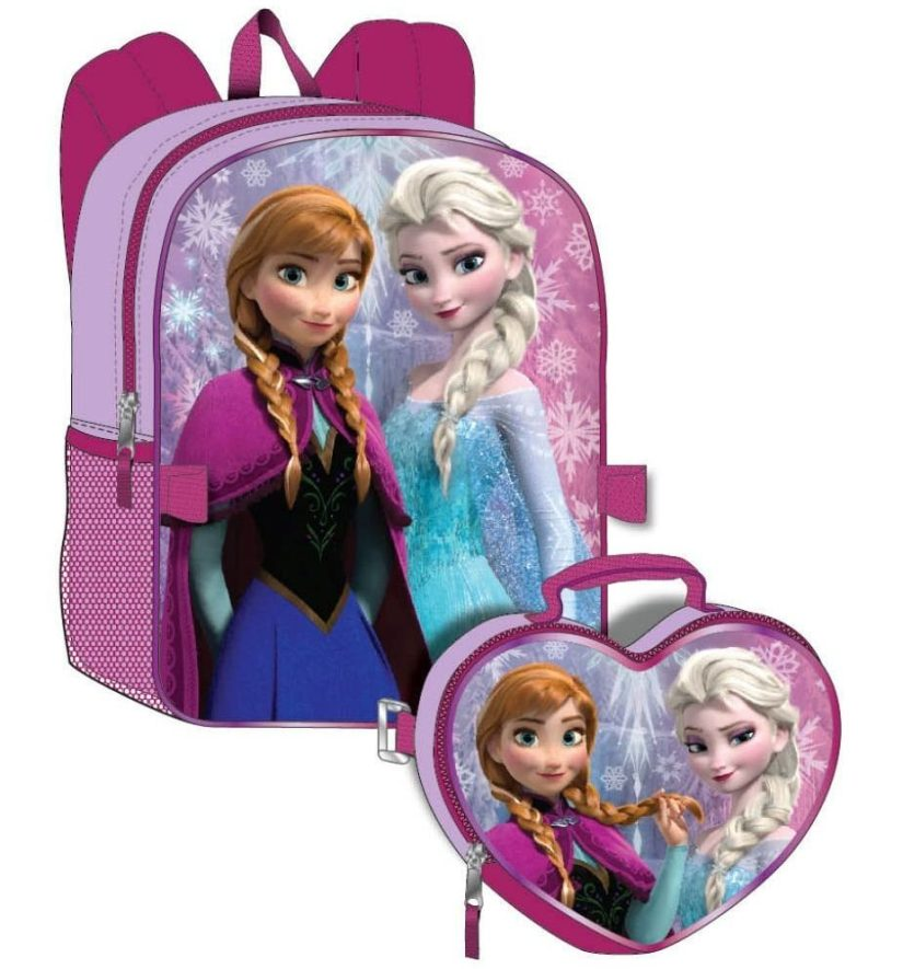 Disney Frozen Girl's Backpack and Detachable Lunchbox Set