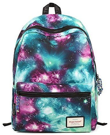 TrendyMax Galaxy Pattern School Backpack for Girls