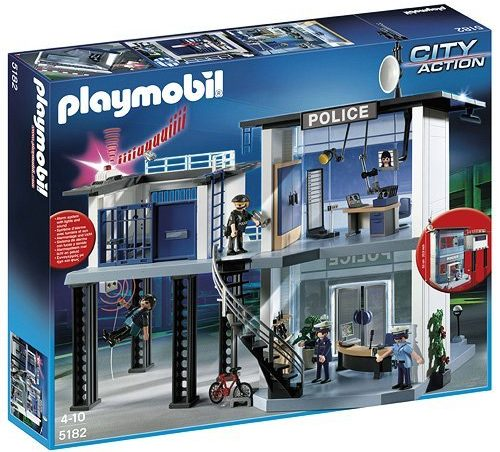 Playmobil Police Station with Alarm System