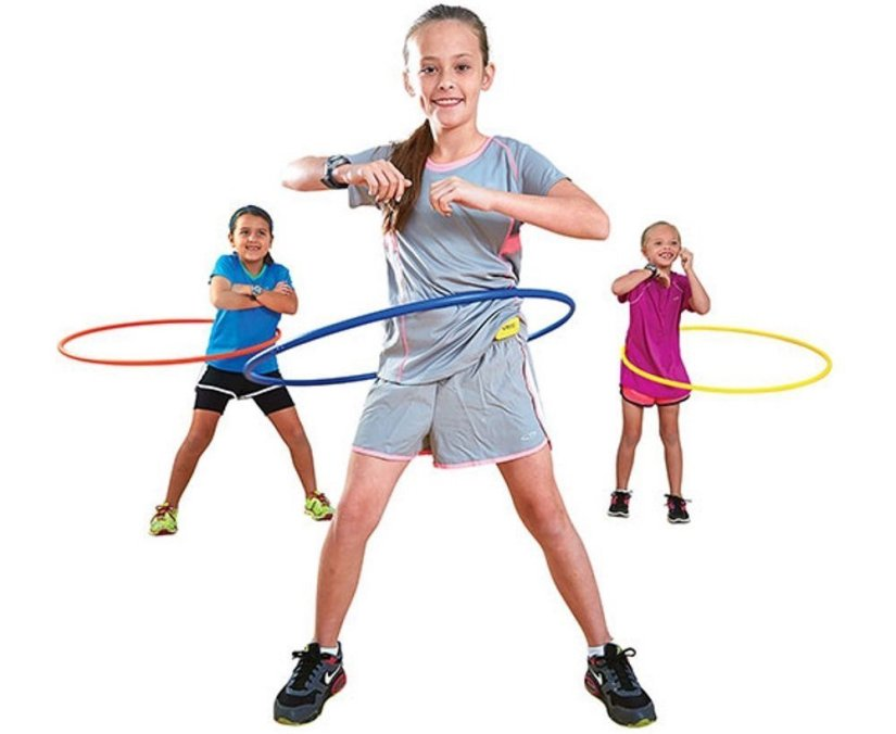Champion Sports 30in Plastic Hoop Set