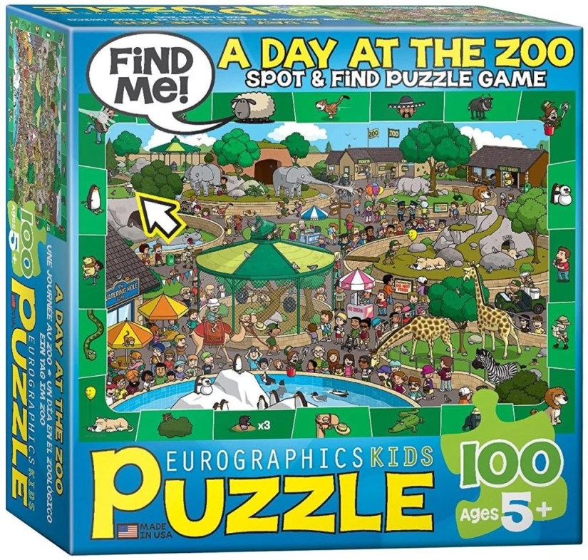 A Day at the Zoo - Spot and Find Puzzle