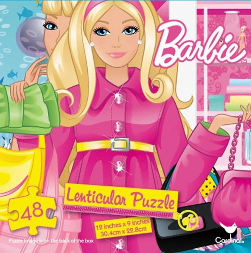 Barbie Lenticular Puzzle 48 Piece
