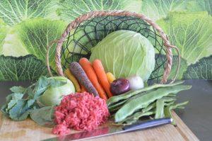 Gemüse für Wintereintopf