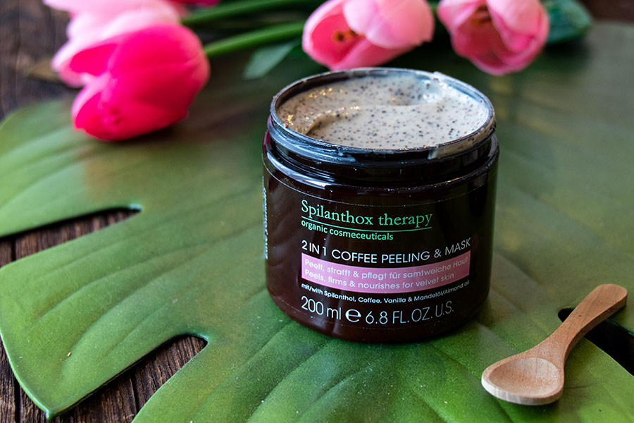 Erfahrungsbericht Spilanthox Therapy 2in1 Coffee Peeling Mask