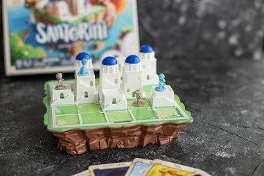 Review Santorini Brettspiel