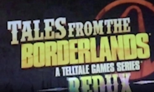 "A screenshot from the leaked trailer that says ""Tales from the Borderlands"""